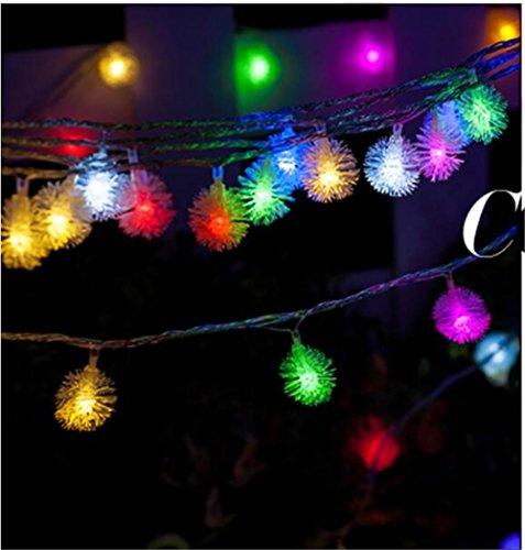 Xingyue Mythology Bola De Nieve LED 10 M Linterna Luces Intermitentes Navidad Neon Bar KTV Al Aire Libre Decoraciones De Vacaciones PequeñA Linterna , colorful