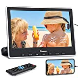 NAVISKAUTO Lettore dvd da auto per poggiatesta, cuffie dotate, adattatore dotato, monitor da 10.1 pollici, supporta HDMI/Regione free/USB/SD/AV-in/AV-out/cavo AUX, 18 mesi di garanzia