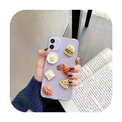 Funda 3D para iPhone 11, SE, X, XS, Max, 7, 8 Plus, de silicona suave y transparente, con purpurina, estilo 8, para iPhone 6 Plus