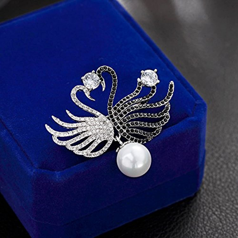 Tao Selling high-Grade Crystal Brooch pin Badge Women Girls swan Suit Corsage Brooch pin Badge Minimalist Jacket Coat Accessories