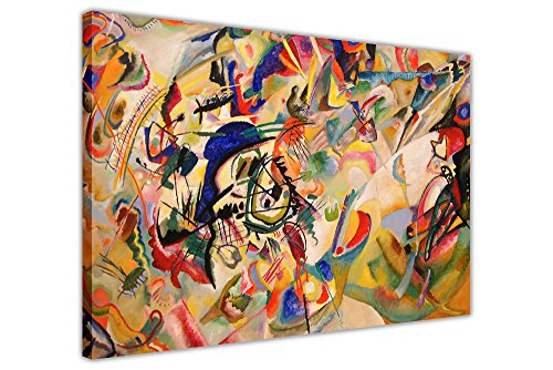 Komposition VII von Wassily Kandinsky auf Leinwand, Wandbild, Print, canvas holz, 09- A0 - 40