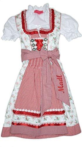 Krüger Kids Kinder Dirndl Sweety - Rot Gr. 110