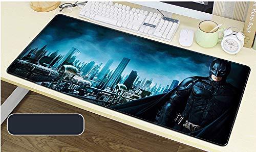 Zenghh DC Marvel Mat Teclado Grande XXL Alfombrilla de ratón Velocidad Gaming Mouse Pad - Batman y Joker Bat Logo Design - Mesa de café Mat una Mayor precisión y Velocidad - Base de Caucho Resistente