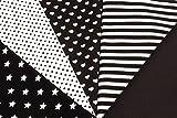 5x0,5m schwarz Muster-Mix BW-Stoff 100% Baumwolle