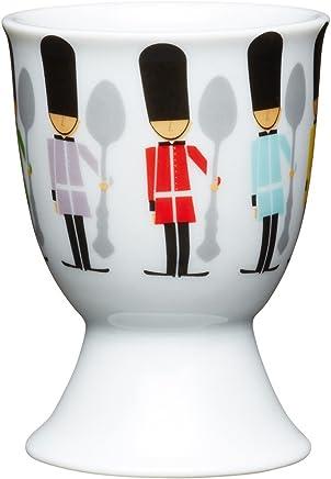 Preisvergleich für Kitchen Craft Eierbecher Kindersoldaten aus Porzellan, Mehrfarbig 12 x 17 x 22 cm