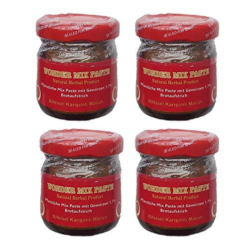 4x 43gr Bitkisel Karisimli Kuvvet Macun Pflanzliche Natural Kraft Paste !! AKTIONSPREIS !! Aphrodisiac Herbal mix fast besser als Themra - Haltbarkeit bis 2022 - HALAL PRODUCT