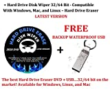 DVD/USB Hard Drive Disk Wiper 32/64 Bit - Compatible With Windows, Mac, and Linux – Hard Drive Eraser Latest Version