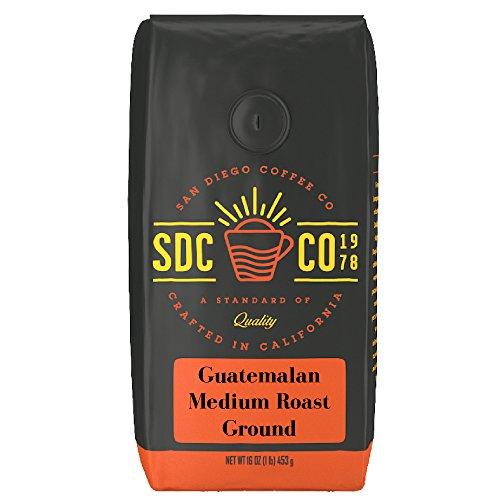 San Diego Coffee Guatemalan, Medium Roast, Ground, 16-Ounce Bag