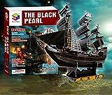 Rompecabezas Tridimensional 3D Barco Pirata caribeño Perla Negra número de Juguetes educativos para niños ensamblados