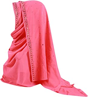 HYIRI Women's Trilby Gangster Muslim Ruffle Hijab Scarf Shawl Head Wrap