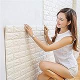 Pegatinas de pared de ladrillo 3D PE Foam Wallpaper Stone Viny Stickers for sala de estar Dormitorio for niños DIY Decoración de revestimiento de pared Fondo de pantalla
