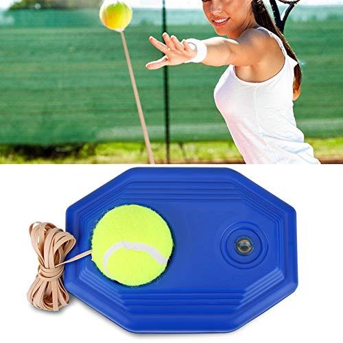 HURRISE Entrenador de Tenis Autoestudio Jugador de Rebote de Tenis Entrenador de Base de Pelota de Tenis con Cuerda elástica de Goma para Practicar con una Sola Persona