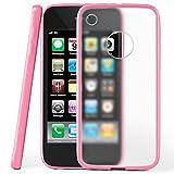 MoEx Coque Mate Transparente Compatible iPhone 3GS / iPhone 3G | Bords surélevés Contrastants, Rose Clair