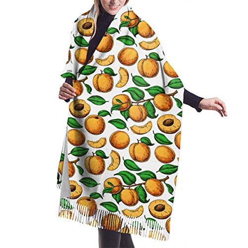 Nieuwe kerstcadeau imitatie kasjmier kwast sjaal abrikoos tekenen. Verkoop In Herfst En Winter, Warm polyester sjaal, Stuur Mom's Cadeau, Stuur Girlfriend's Gift