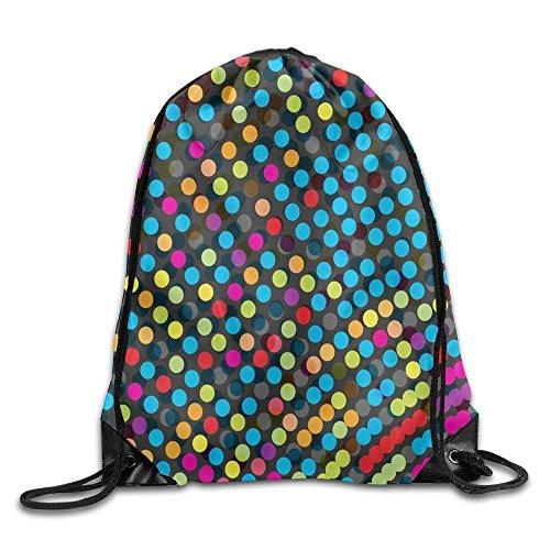 uykjuykj Tunnelzug Rucksäcke, Unisex Dot Basics Classic Drawstring Gym Sack Bag Backpack for Hiking Swimming Yoga Lightweight Unique 17x14 IN