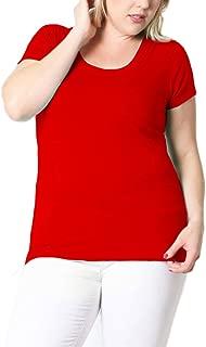 Belle Donne- Women's T Shirt Stretchy Scoop Neck Workout Yoga Cotton T-Shirt
