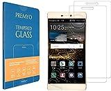 PREMYO 2 Piezas Cristal Templado para Huawei P8 Protector Pantalla para P8 Dureza 9H Bordes 2,5D Vidrio Lámina Protección Compatible con Huawei P8 Sin Burbujas contra Arañazos