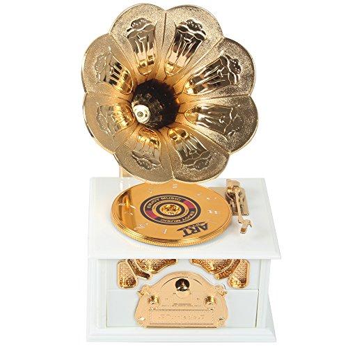 Sidiou Group Creative classique Gramophone modèle boîte à musique phonographe Belle boîte à musique Romantique boîte à musique Rétro boîte à musique