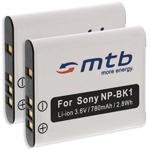 2X Baterías NP-BK1 para Sony Cyber-Shot DSC- S950, S980, W370. / Bloggie....