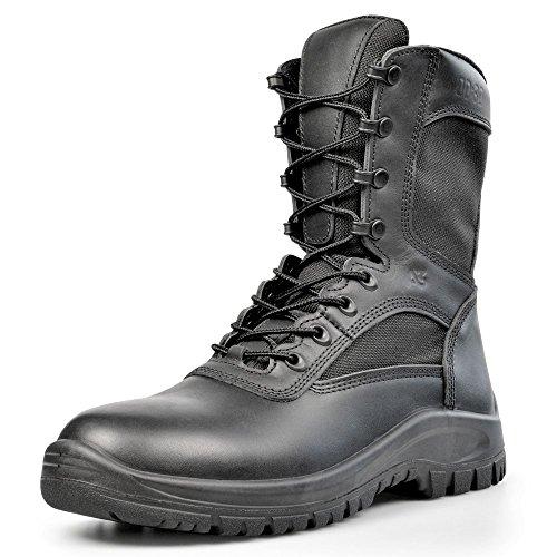 OD:30 Black Side Zip A3 Combat Boot 10 W US