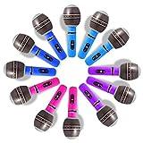 Novelty Place Juego de Micrófonos Inflables de 25 centímetros Accesorios de Fiesta para Niños, Juguetes Inflables (Paquete de 12)