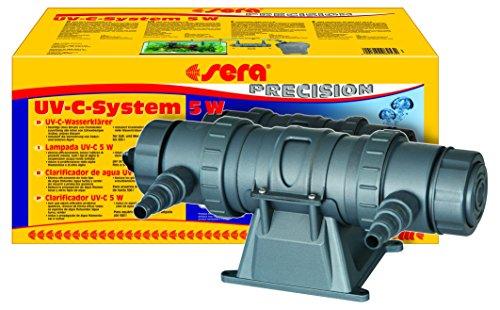 sera 08253 UV-C-System 5W ein Hochleistungs-UV-C-Wasserklärer fürs Aquarium gegen Algen und gegen Krankheitserreger - ganz ohne Chemie - UVC BZW. UV-C Klärer, keine, 5 Watt