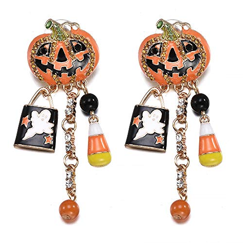 QYMX Ohrring Frauen, Mode Frauen Halloween Party Kürbis Ghost Pair Ohr Ohrstecker Dangle Hoop Drop Ohrringe Schmuck