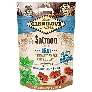 Carnilove Crunchy Snack Salmon & Mint Premios pour Chat 50 g – 50 g
