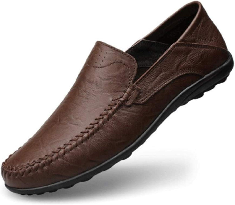 MUZIWENJU Herren Freizeitschuhe, Business Freizeitschuhe, Herren Leder Schuhe Schuhe mit weichen Sohlen, (DREI Farben optional)  schneller Versand zu Ihnen