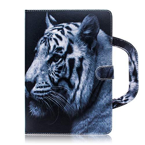 Sunrive Funda para Apple iPad Mini 4, F4 Protectiva Carcasa Cuero Resistente Cierre Magnético,en Folio, Soporte Plegable,Ranuras para Tarjetas (Tigre Blanco)