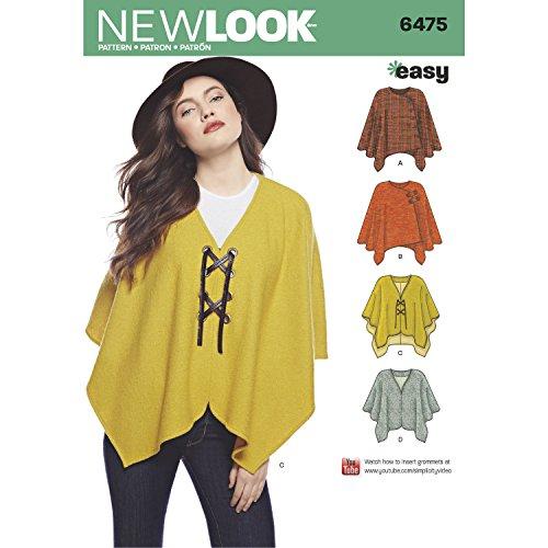 New Look Schnittmuster 6475 Poncho und Umhang für Damen