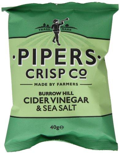 Pipers Chips Cider Vinegar & Sea Salt, 24er Pack (24 x 40 g)