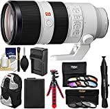 KIT INCLUDES 9 PRODUCTS -- All BRAND NEW Items with all Manufacturer-supplied Accessories + Full USA Warranties: [1] Sony Alpha E-Mount FE 70-200mm f/2.8 GM OSS Zoom Lens + [2] 77mm (UV/CPL/ND8) Filters + [3] 6pc Graduated Color Filter Set + [4] Spar...