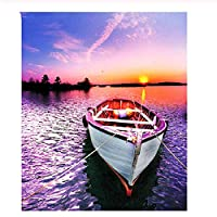 1000ピース木製ジグソーパズル海の夕日の風景ボート大人子供のゲームおもちゃのストレスリリーフパズル