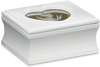 Jaclyn Smith White Flip-Top Jewelry Box