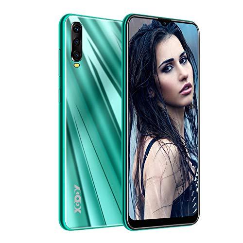 XGODY A90 Smartphones ohne Vertrag,6.53 Zoll Großer Touchscreen Günstig Smartphones Angebote,2GB RAM 16GB ROM Smartphones Dual SIM Android 9 Handy-Grün