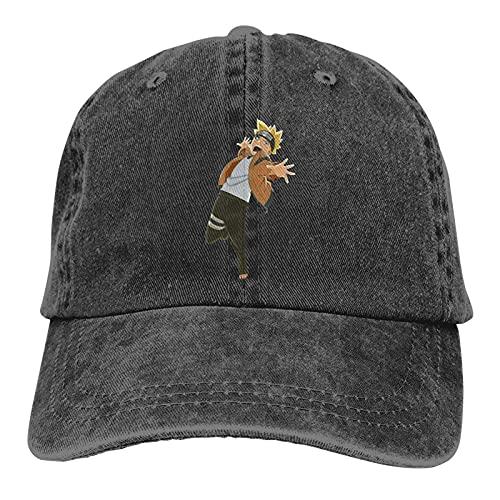 XCNGG Boruto Men Vintage Casquette Cap Verstellbare Trucker Denim Hüte