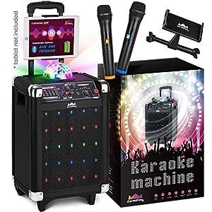 KaraoKing Karaoke Machine for Kids & Adults Wireless Microphone Speaker with Disco Ball, 2 Wireless Bluetooth…
