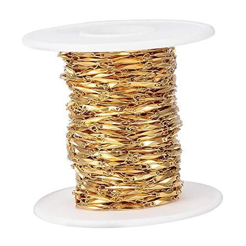 Sharplace 33 pies Chapado en Oro Acero Inoxidable Enlace Cadena de Cable...