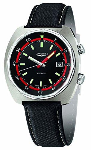 LONGINES - herenhorloge Heritage Diver automatisch stalen band stof datum L2.795.4.52.0