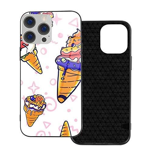 Estuche para teléfono Delicious Ice Cream Carcasa para teléfono para iPhone 12/12 Mini / 12 Pro / 12 Pro MAX Carcasa Trasera de Vidrio Templado + TPU para iPhone 12mini MAX 5.4 Pulgadas
