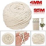 Cuerda de macramé de color beige para manualidades y...
