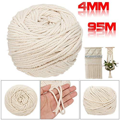 Cuerda de macramé de color beige para manualidades y