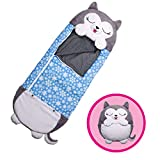 """Happy Nappers Pillow & Sleepy Sack- Comfy, Cozy, Compact, Super Soft, Warm, All Season, Sleeping Bag with Pillow- Large 66"""" x 30"""", Husky"""