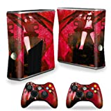 MightySkins Skin Compatible with X-Box 360 Xbox 360 S Console - Anime | Protective, Durable, and Unique Vinyl Decal wrap Cover | Easy to Apply, Remove, and Change Styles | Made in The USA