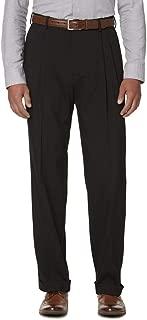 Covington Men's Perfect Classic Fit Pleated Dress Pants Dark Grey Size 32X325