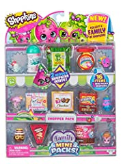 Miniature collectible packaging containing all new family themed Shopkins! Collect a whole Shopkin family! With 0Ver 30 families to collect! Includes 8 Shopkins and 8 family Mini packs! 1 in 4 chance to find a bonus babykin inside! Will you find the ...