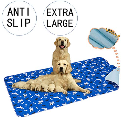 Yangbaga Washable Pee Pads for Dogs, 36x64in Extra Large Non Slip Puppy Pads, Extra Thick Whelping...