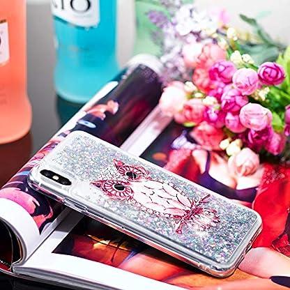 QFUN-fuer-iPhone-XXS-Handyhuelle-mit-Glitzer-Fluessig