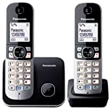 Panasonic KX-TG6812JTB Telefono Cordless DECT Twin Pack (2...